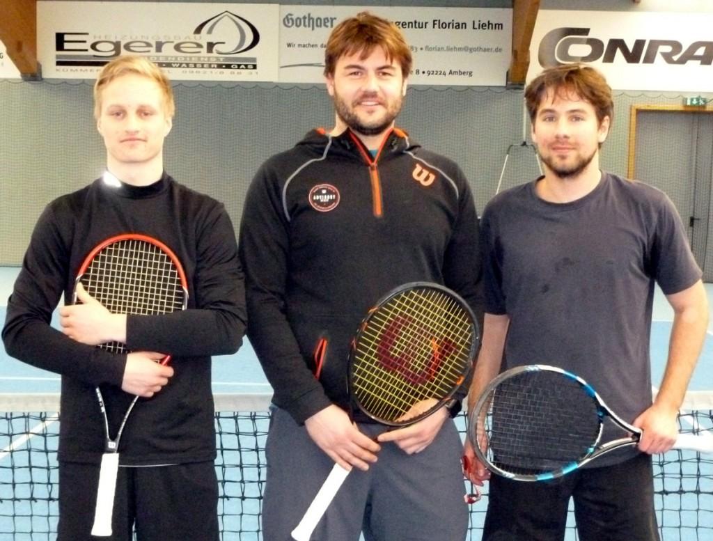 Die drei Top-Spieler mit LK7 von links: Lukas Rösch, Tobias Schlokat und Christian Eckl